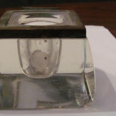 PVM - Calimara cristal veche frumoasa dar incompleta