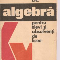 (C3629) FISE DE ALGEBRA PENTRU ELEVI SI ABSOLVENTI DE LICEE DE N. GHIRCOIASIU SI M. IASINSCHI, EDITURA DACIA. 1976, Matematica