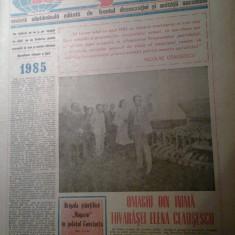 ziarul magazin 5 ianuarie 1985 -omagiu pt. ziua de nastere a elenei ceausescu