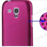 Husa protectie mesh roz Samsung Galaxy S3 Mini i8190 silicon rigid antiradiatii + folie protectie ecran - Husa Telefon