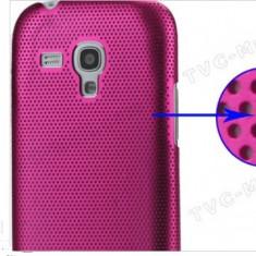 husa protectie mesh roz Samsung Galaxy S3 Mini i8190 silicon rigid antiradiatii + folie protectie ecran