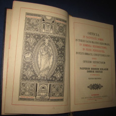 Carte veche catolica-OFFICIA IN NATIVITATE DOMINI- 1910. - Carti bisericesti