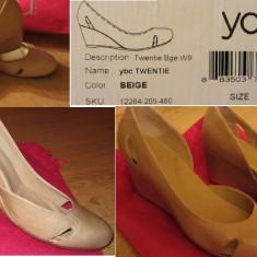 Pantofi Crocs - Pantof dama Crocs, Culoare: Bej, Marime: 40, Bej