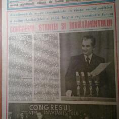 Ziarul magazin 30 noiembrie 1985 (cuvanatrea lui ceausescu si a elenei ceausescu la congresul stintei si invatamantului )