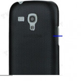 Husa protectie mesh neagra Samsung Galaxy S3 Mini i8190 silicon rigid antiradiatii + folie protectie ecran - Husa Telefon