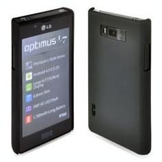 husa protectie LG Optimus l7 p700 mesh neagra silicon rigid antiradiatii  + folie protectie ecran