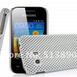 Husa protectie mesh alba Samsung Galaxy Y S5360 silicon rigid antiradiatii + folie protectie - Husa Telefon