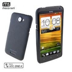 husa protectie mesh neagra HTC One X silicon rigid antiradiatii + folie protectie ecran