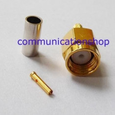 Rf connector RP-SMA male straight crimp to RG316 RG174 LMR100 (femele pin) - Antena