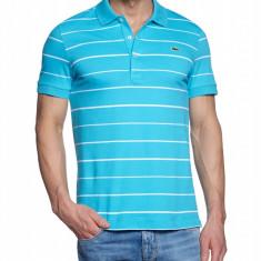 Tricou Lacoste Polo model deosebit - Tricou barbati, Marime: S, Culoare: Turcoaz