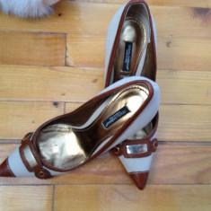 PANTOFI DOLCE& GABANNA - Pantof dama Dolce & Gabbana, Culoare: Bej, Marime: 36, Bej, Cu toc