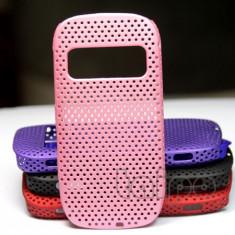 husa mesh roz pentru nokia c7 silicon rigid antiradiatii + folie protectie ecran