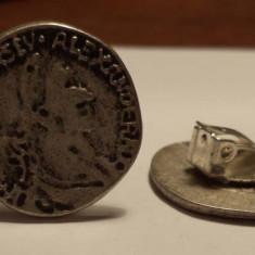 Cercei clips cu imitatie moneda antica