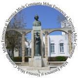 Insigne Statuia Mihai Eminescu - Constanta -- 44mm sau 56mm -- (PERSONALIZATE)