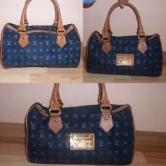 Geanta Louis Vuitton - Geanta Dama Louis Vuitton, Geanta de umar, Albastru, Catifea