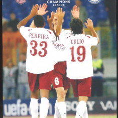 UEFA CHAMPIONS LEAGUE*CFR CLUJ vs CHELSEA FOOTBALL CLUB - Program meci