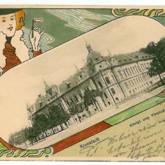 876 - L i t h o, BRASOV, Bank - old postcard - used - 1901 - Carte Postala Transilvania pana la 1904, Circulata, Printata