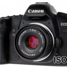 Pentacon Prakticar MC 50mm F2.4 pentru Canon EOS - Obiectiv DSLR Canon, Standard, Manual focus, Canon - EF/EF-S