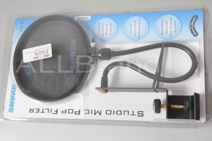 Shure PS- 6 Popper stopper Filtru Microfon Pop Rap Hip Hop Media si are 4 Straturi de panza Gama Professional foto mare