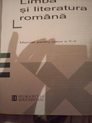 Manual pentru clasa a-X-a Limba si literatura romana Alexandru Crisan foto