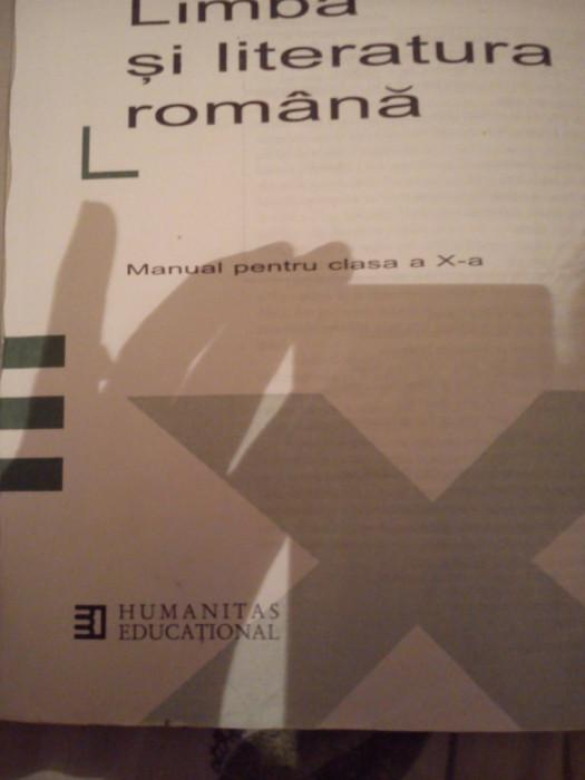 Manual pentru clasa a-X-a Limba si literatura romana Alexandru Crisan