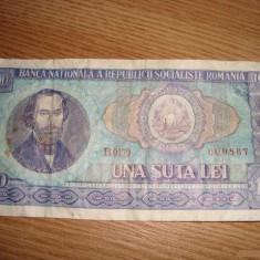 Bancnota de colectie 100 lei vechi 1966 - Bancnota romaneasca