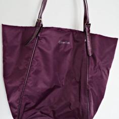 Geanta Calvin Klein 100% originala,import SUA, Geanta sacosa, Mov, Nilon