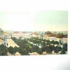 Carte postala Turnu Severin Vederea generala a parcului 1911
