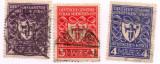 1922 Germania STEMA Munich 3 timbre Sc. 213-215= 4 usd circulate, Stampilat