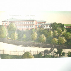 Carte postala Turnu Severin Liceul Traian 1911