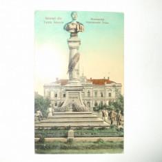 Carte postala Salutari din Turnu Severin Monumentul Imperatorului Traian 1910