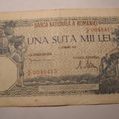 100000 lei 1946 - Bancnota romaneasca
