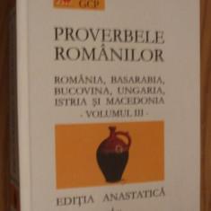 IULIU A. ZANE - PROVERBELE ROMANILOR din Romania, Basarabia - Vol. III, 2004