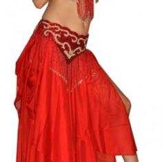 Costum belly dance - Costum dans, Marime: 38, Culoare: Rosu