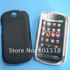 husa protectie LG Optimus Me p350 neagra silicon rigid antiradiatii + folie protectie ecran
