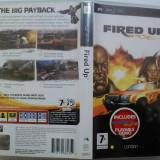 Fired Up PSP (ALVio) + sute de alte jocuri psp (VAND / SCHIMB )