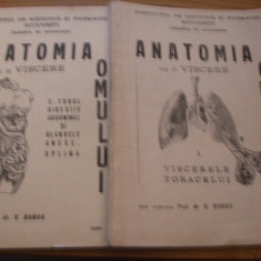 ANATOMIA OMULUI vol. II * VISCERE * 1. Viscerele Toracelui; 2. Tubul Digestiv Abdominal si Glandele Anexe.Splina -- V. Ranga - 1980, 148+200 p