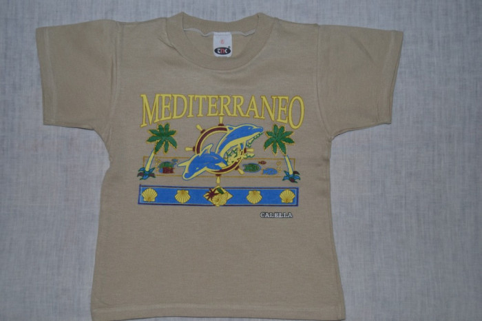 Tricou bej Mediteraneo foto mare