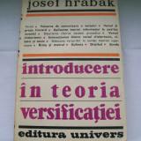 INTRODUCERE IN TEORIA VERSIFICATIEI JOSEF HRABAK