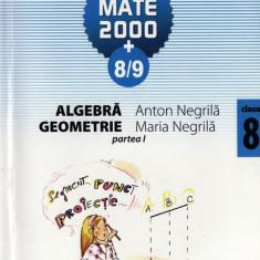 MATE 2000+ 8/9 - MATEMATICA ALGEBRA, GEOMETRIE PARTEA I CLASA A VIII A de ANTON NEGRILA ED. PARALELA 45 - Manual scolar paralela 45, Clasa 8