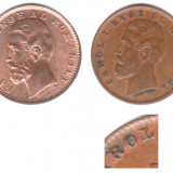 * Lot 2 monede 1 ban 1900 - diferite - Moneda Romania