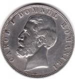 * Moneda 5 lei 1880 - Kullrich pe cerc