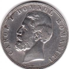 * Moneda 5 lei 1880 - Kullrich pe cerc - Moneda Romania