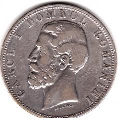 * Moneda 5 lei 1880 - Kullrich sub efigie - Moneda Romania