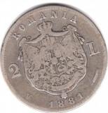 * Moneda 2 lei 1881