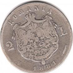 * Moneda 2 lei 1881 - Moneda Romania