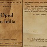 Carte de mici dimensiuni / brosura informativa - OPIUL IN INDIA - anul 1941