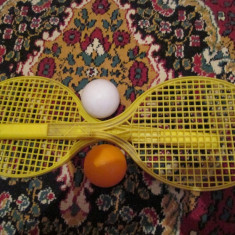 Rachete tenis de jucarie - vechi romanesti - Joc colectie