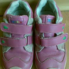 Adidasi copii marimea 25! Sunt din piele interior-exterior!, Culoare: Roz, Fete, Piele naturala, Roz