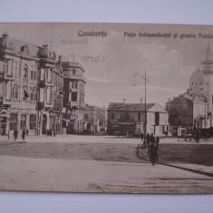 CARTE  POSTALE  (VEDERE) - Piata  Independentei  si  Giamia  Turciasca - Constanta